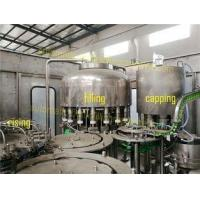PLC Control Juice Bottle Filling Machine With Washed Water Recycling System