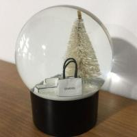 China Gifts and Crafts Hot Selling Polyresin Christmas Tree Crystal Snow Globe Water Ball on sale