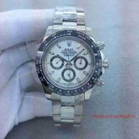 China Rolex Cosmograph Daytona Replica watch White Dial Black bezel New 2017 Japan Grade on sale