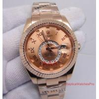 China Rolex Oyster Perpetual Sky Dweller Replica Mens Watch - Rose Gold Dial Roman 42mm wholesale