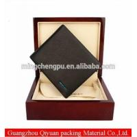 China hot selling high quanility customised design wooden wallet gift packing box wholesale