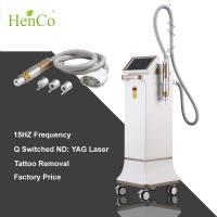 China Shock Wave 15Hz ND YAG laser 3 tips q-switch Tattoo Removal Diode Laser Beauty Machine wholesale