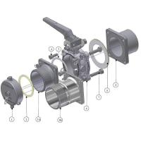 """China BUTTERFLY VALVES - Chemfly 3"""" Bottom Discharge wholesale"""