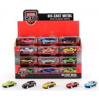 Super Cars Die-Cast Metal with Plastic Parts, Yellow Car