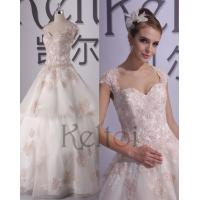 Princess Scoop Neck Sweep Train Lace Wedding Dress(RX1305)