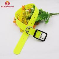 Dog collar Fluorescent green tpu plastic dog collar