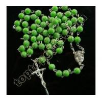 China 2012 popular plastic rosary necklace on sale