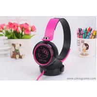 China General headset Hello Kitty cute girl cartoon flat wire with wheat KT-30 headset wholesale