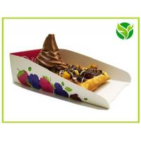 China waffle packaging tray, waffle box ,food grade paper tray on sale