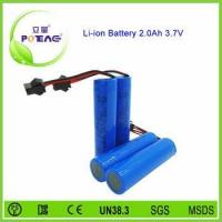 China 3.7v 2000mah 18650 rc helicopter battery wholesale
