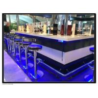 China best bar counter design Custom size fashion design black and white bar counter BSBC-004 wholesale