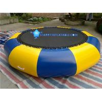 Inflatable water trampolines and bouncers