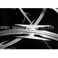 China High Tensile Galvanized Razor Barbed Wire 0.5mm thickness For Security Fence on sale