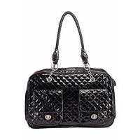 BETOP HOUSE Soft-Sided Pet Carrier Purse for Travel, Black