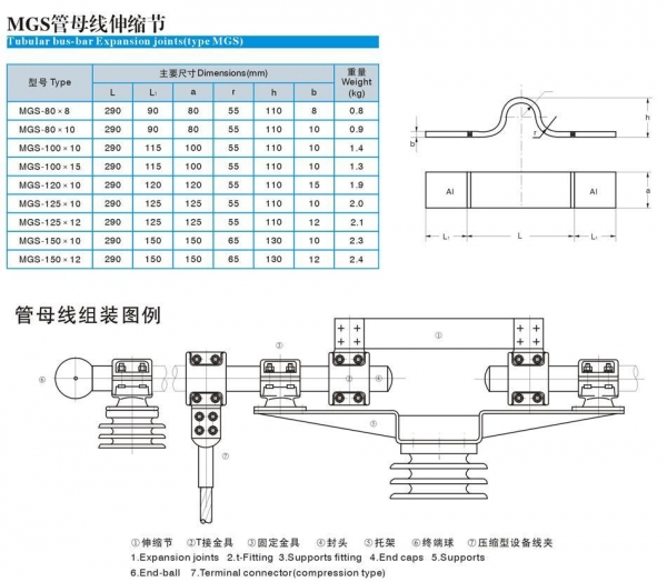 Quality Tubular bus-bar expansion joints for sale