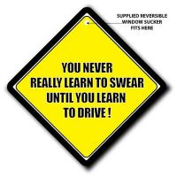 You Never Really Learn To Swear Until You Learn How To Drive Car Sign