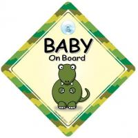 China Baby On Board, Dinosaur On Board Car Sign, Baby On Board Sign, Car Sign, Bumper Sticker, Decal wholesale