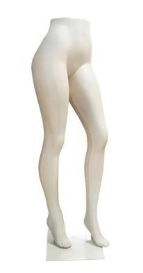 Quality Brazilian Style Female Half Body Mannequin Pants Exhibitor With Folded Leg And Metal Base for sale