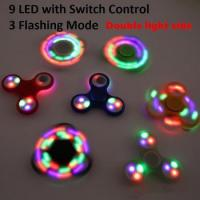 Newest LED Fidget Spinner Hand Fingertip Spinner Gyro Style EDC Decompression Stress Anxiety Toy