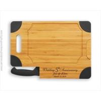 China Cheese & Cutting Boards Personalized Engraved Cutting Board with Knife-Anne wholesale