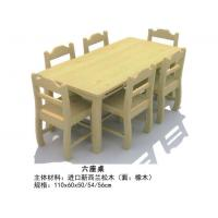 """China High Quality Kindergarten Wooden <strong style=""""color:#b82220"""">Children</strong> Six Seats Table Rectangle Kids Desk in Preschool wholesale"""