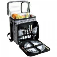 China Picnic at Ascot Insulated Picnic Basket/Cooler Fully Equipped with Service for 2 - Houndstooth wholesale