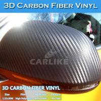 China Free Shipping 150Microns Air Free 3D Carbon Fiber Vinyl Sticker Roll wholesale