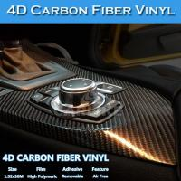 China Free Shipping Air Bubble Free Glossy Colored 4D Carbon Fiber Vinyl Sticker wholesale