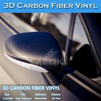 China Free Shipping 180Microns Air Free 3D Carbon Fiber Sticker Vinyl wholesale