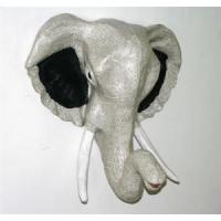 China Paper Mache Home Accents P97415-1 - Elephant Head Book Paper and Dyed Paper wholesale
