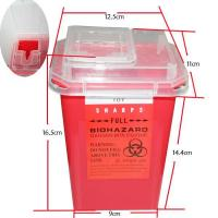 China Hygiene Supplies HS41 sharp apparatus collecting bin Red wholesale