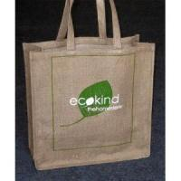 China Promotional Jute Shopping Bag with Large Two Colors Imprint One Side wholesale