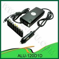 China 120W Universal DC Power Adapter for Car Use, with 1 LED, 1 USB Port, 8 Output Pins ALU-120D1D on sale