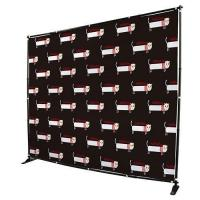 China Custom Telescopic Backdrop Stand , Step Repeat Adjustable Banner Stand on sale