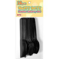 China 18 PCS PLASTIC CUTLERY SET - BLACK wholesale