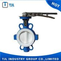 China PTFE Butterfly Valve Wafer Type Butterfly Valve Dimensions PTFE Seated on sale