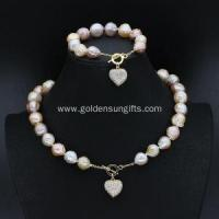 Buy cheap Baroque Pearl Jewelry Sets with Necklace and Bracelet from wholesalers