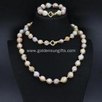 Buy cheap Unique Freshwater Pearl Necklace and Bracelet Sets from wholesalers