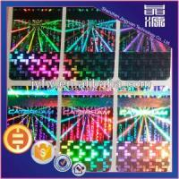 China Rectangle Self Adhesive Laser Hologram Label wholesale