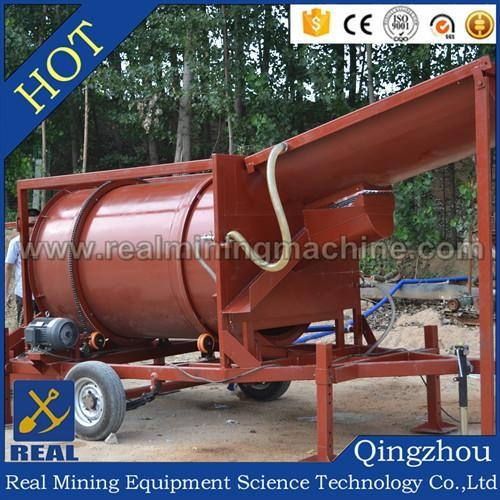 Quality Trommel Plant Drum type mobile gol for sale