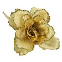 China Artificial Flowers & Sprays Gold Decorative Flower - 15cm on sale