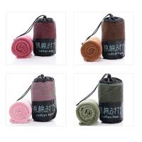 China cotton customized sport towel with mesh bag Round Towel wholesale