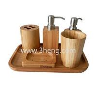 Wholesale hot new products for 2015 bamboo collection bathroom accessories set ,6-piece