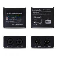China Noise Isolator Professional Full Rage Audio Ground Loop Signal Protector With 3.5-6.35mm Audio Cable wholesale