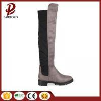 China winter long genuine leather over knee boots on sale