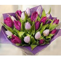 Buy cheap Flowers Lilac and Pink Tulip Bouquet from wholesalers