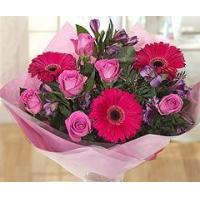 Buy cheap Flowers Hot Pink Flower Bouquet from wholesalers