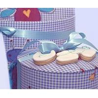 Buy cheap Bakery Baby Boy Shortbread Cookies in a Hat Box from wholesalers