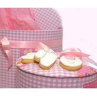 China Bakery Baby Girl Shortbread Cookies in a Hat Box wholesale