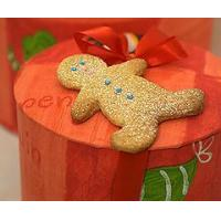 Buy cheap Bakery Gingerbread Men Biscuits in a Hat Box from wholesalers